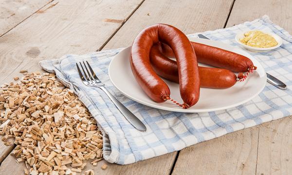 Chilled smoked sausage (rookworst)